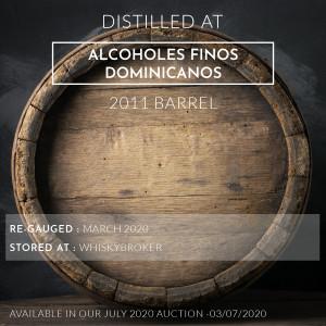 1 Alcoholes Finos Dominicanos 2011 Barrel / Cask in storage at Whiskybroker