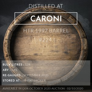 1 Caroni HTR 1997 Barrel #224 / Cask in storage at Whiskybroker