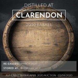 1 Clarendon 2010 Barrel / Cask in storage at Whiskybroker