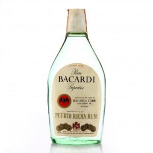 Bacardi Carta Silver Label 4/5 Pint 1970s / US Import