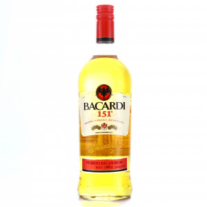 Bacardi 151 Proof 1 Litre / US Import