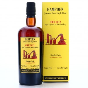 Hampden OWH 2012 Habitation Velier 7 Year Old Single Cask / Whisky Live Paris 2019