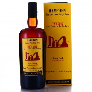 Hampden OWH 2012 Habitation Velier 7 Year Old Single Cask / Whisky Live Paris 2019