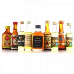 Jamaican Rum Miniatures x 9