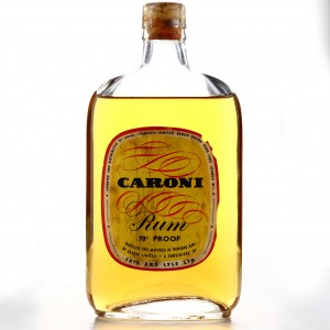 Caroni Tate and Lyle 70 Proof 1/2 Bottle 1960s