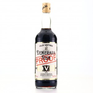 George Morton 'OVD' Old Vatted Demerara Rum 100 Proof 1980s