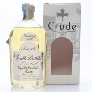 Crude 1981 Single Pot Still Very Old Barbados Rum 50cl / Double Distilled