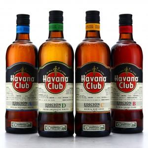 Havana Club Edición Profesional A, B, C & D 4 x 70cl