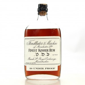 Findlater and Mackie Finest Kosher Rum 1/2 Bottle 1930s