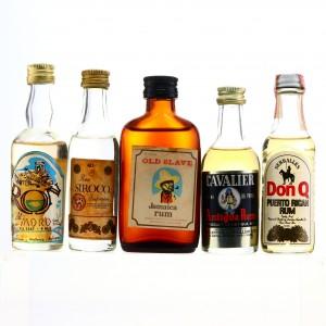 Rum Miniatures x 5 1960s-80s