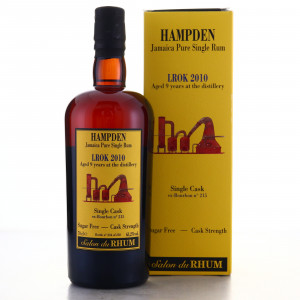 Hampden LROK 2010 Habitation Velier 9 Year Old Single Cask #215 / Salon du Rhum