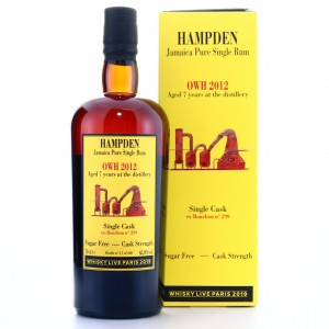 Hampden OWH 2012 Habitation Velier 7 Year Old Single Cask / Whisky Live 2019
