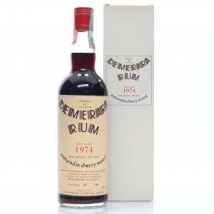Demerara Rum 1974 Moon Import Sherry Wood