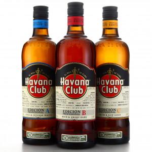 Havana Club Edición Profesional A, B & C 3 x 70cl
