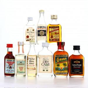 Rum Miniatures x 9 / includes Wood's 100