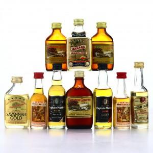Jamaican Rum Miniatures x 10 1970s-80s
