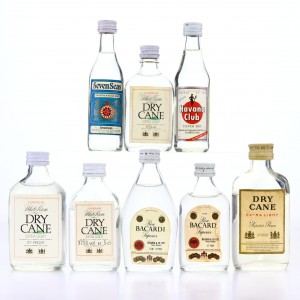 White Rum Miniatures x 8