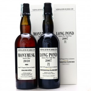 Long Pond TECA & Monymusk MBS National Rums of Jamaica 2 x 70cl