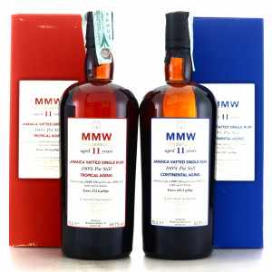 Monymusk MMW Velier Tropical vs Continental Aging 2 x 70cl / E&A Scheer