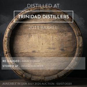 1 Trinidad Distillers 2011 Barrel / Cask in storage at Whiskybroker