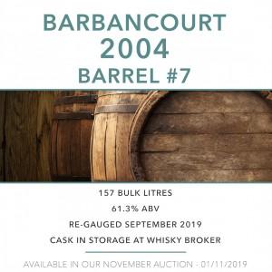 1 Barbancourt 2004 Barrel #7 / Cask in storage at Whiskybroker