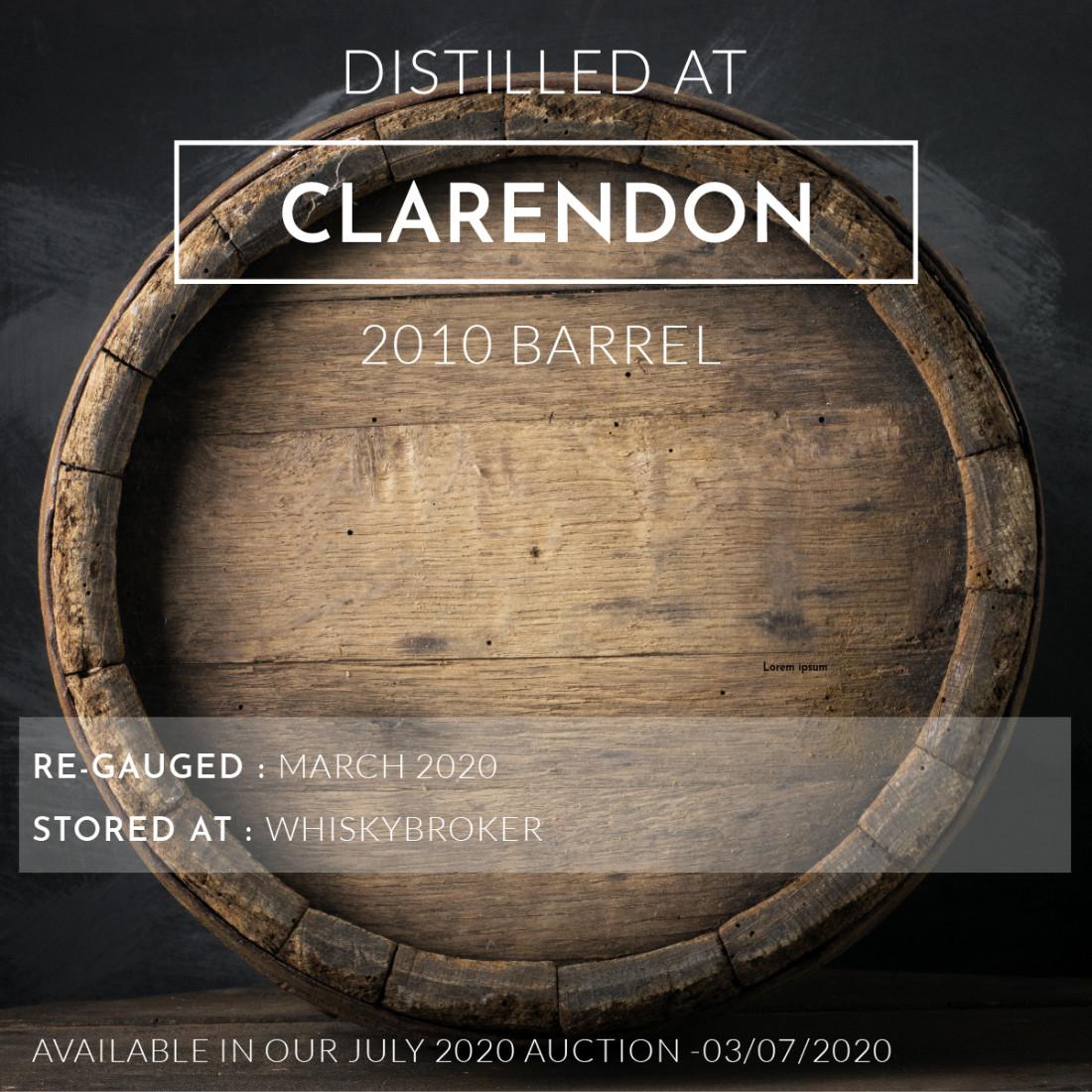 1 Clarendon 2010 Barrel / Cask in storage at Whiskybroker