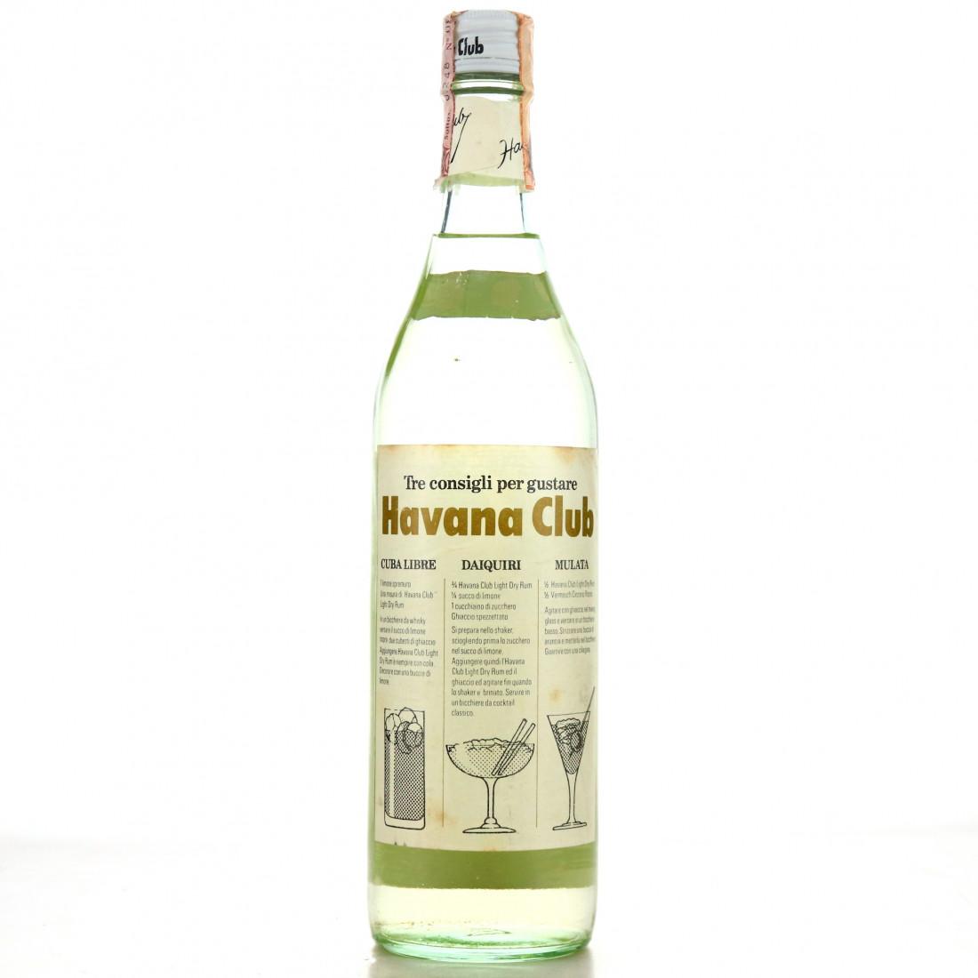 Havana Club 3 Year Old Light-Dry 1970s / Cinzano Import