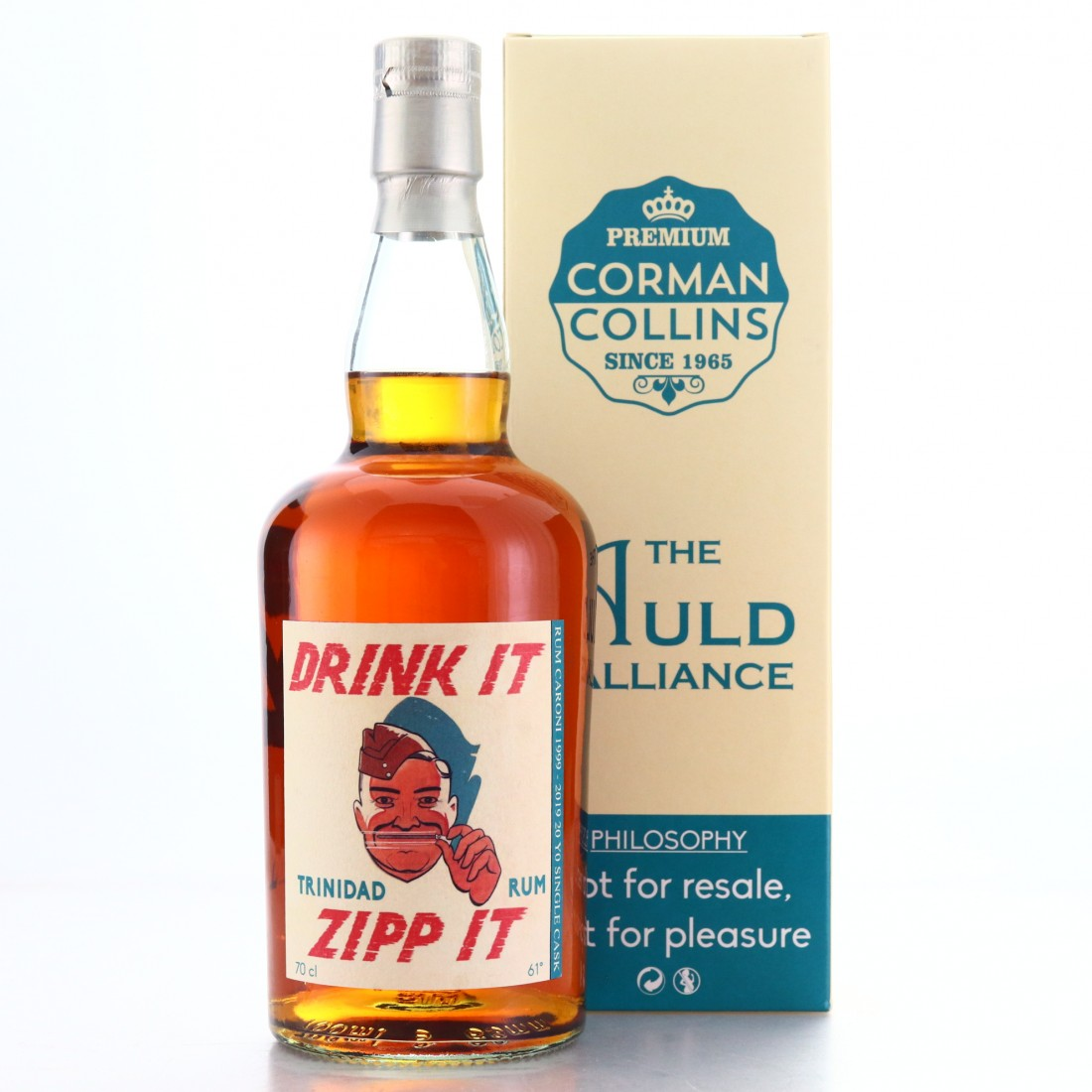 Caroni 1999/2019 Single Cask 20 Year old Corman Collins / Auld Alliance
