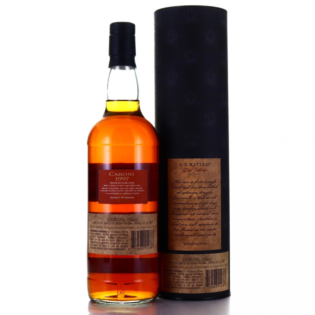 Caroni 1997 A.D. Rattray 18 Year Old 75cl / US Import