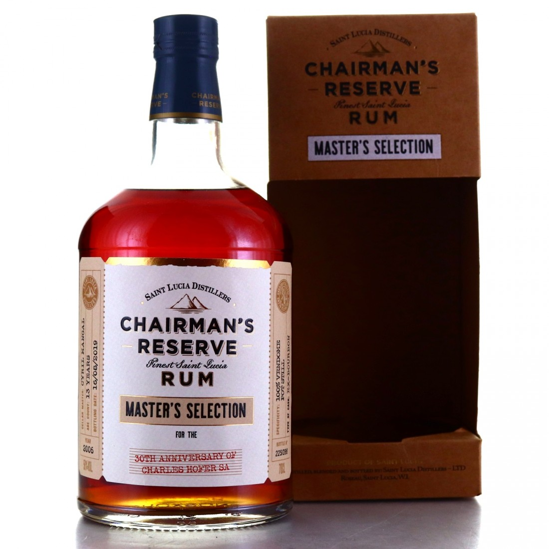 Chairman's Reserve 2006 Pot Still Single Cask 13 Year Old / 30th Anniversary Charles Hofer