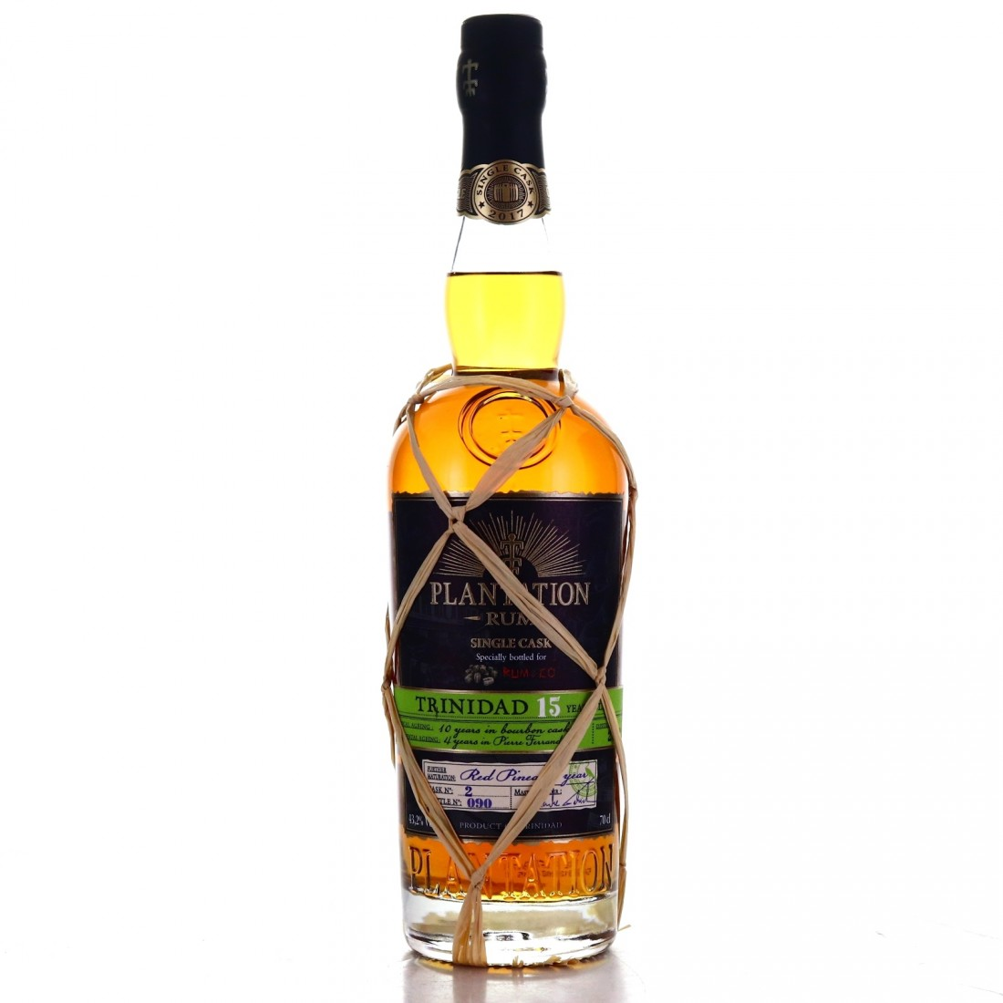 Trinidad Rum 2002 Plantation 15 Year Old Single Red Pineau Cask Finish #2 / Rum&Co