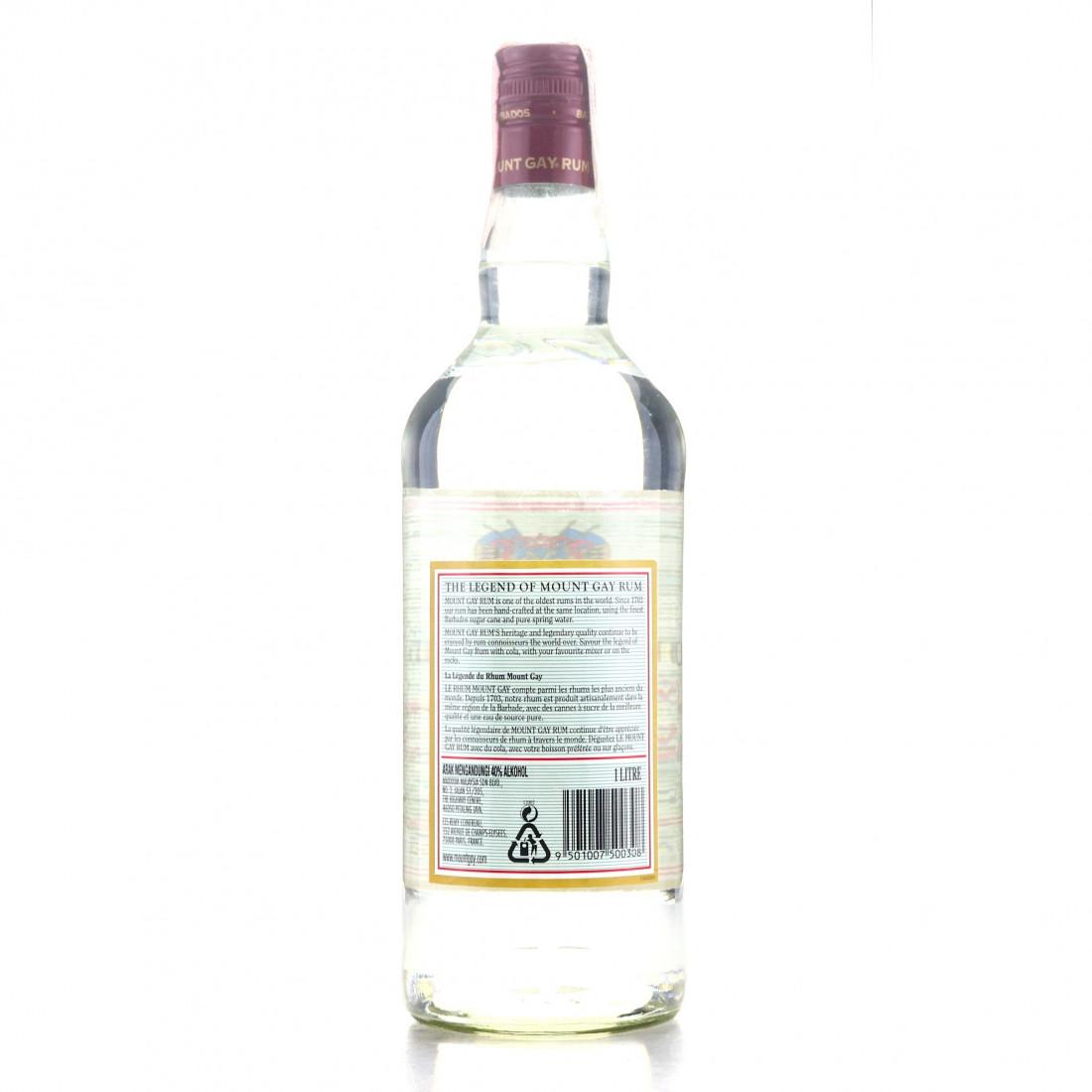 Mount Gay Premium White Rum 1 Litre 1980s