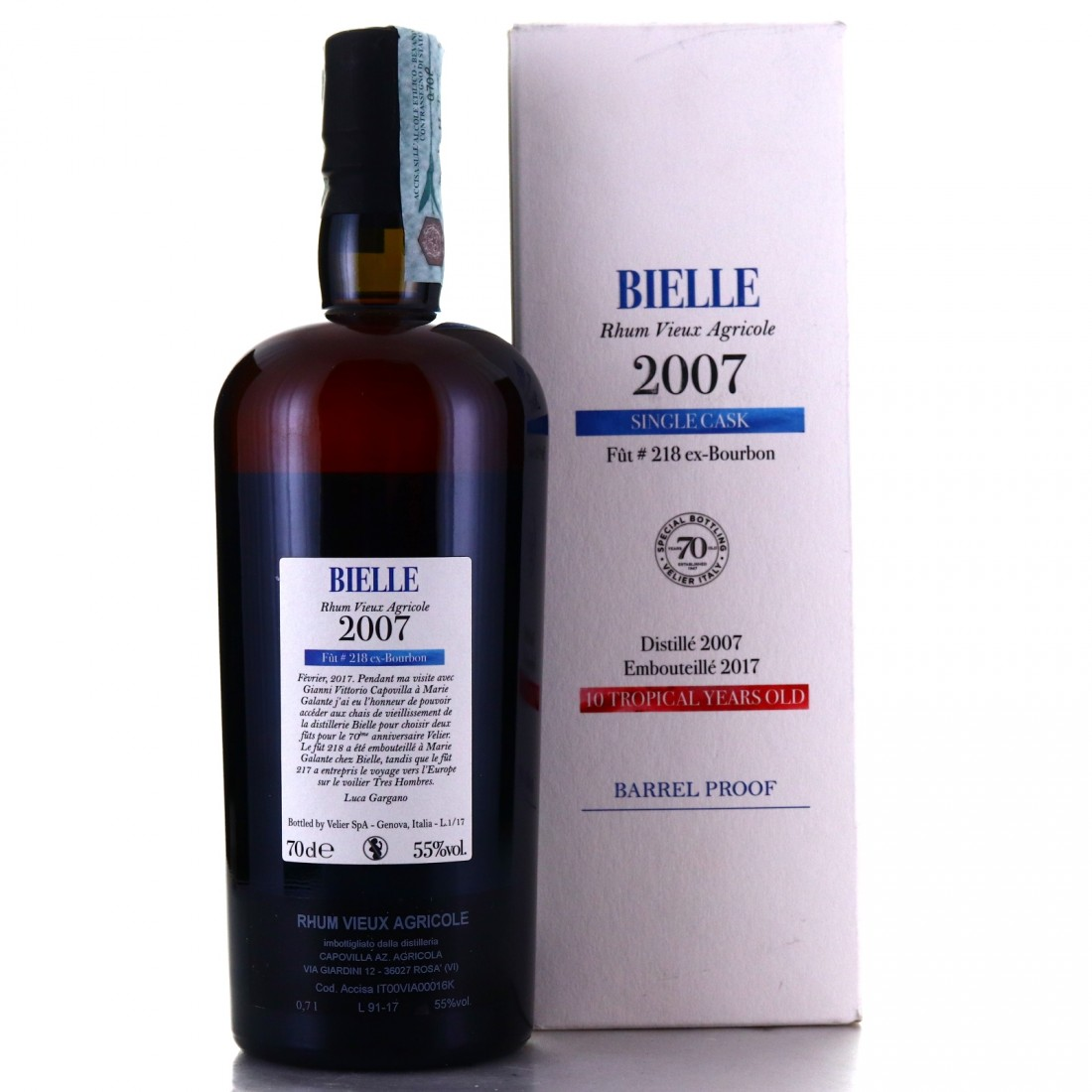 Bielle 2007 Velier 10 Year Old Single Cask #218 / 70th Anniversary