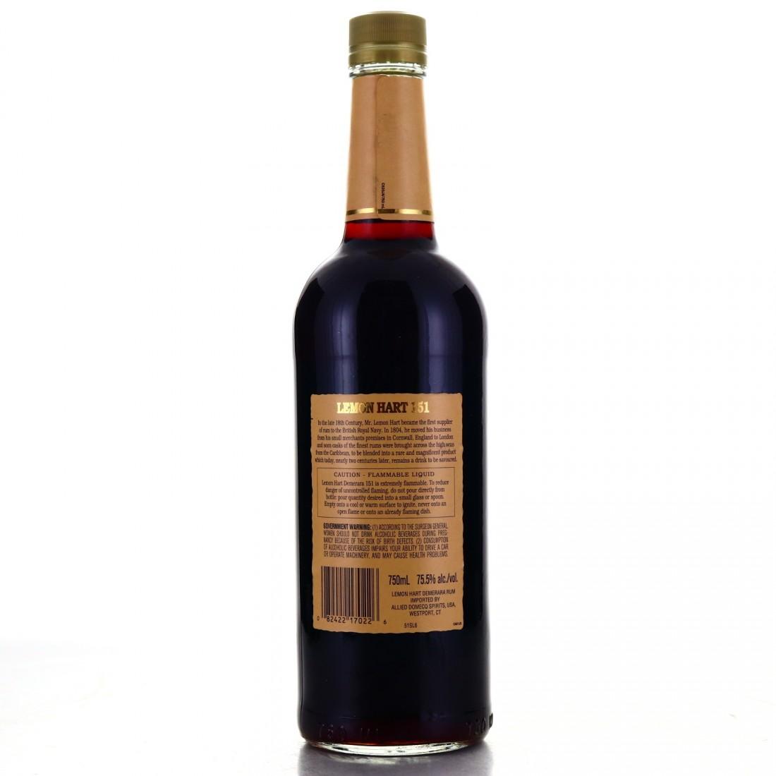 Lemon Hart 151 Proof Demerara Rum 75cl / US Import