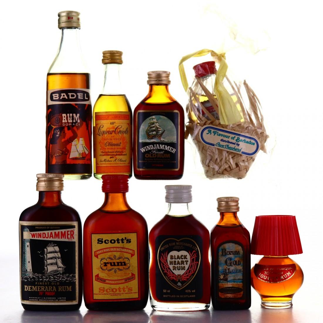 Rum Miniatures x 9