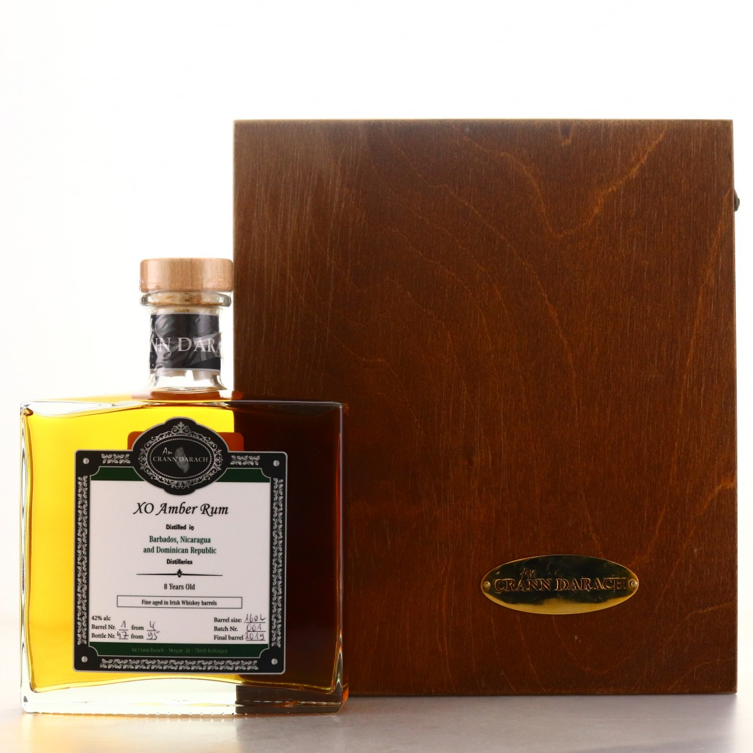 An Crann Darach 87 Year old XO Amber Rum Irish Whiskey Cask Finish