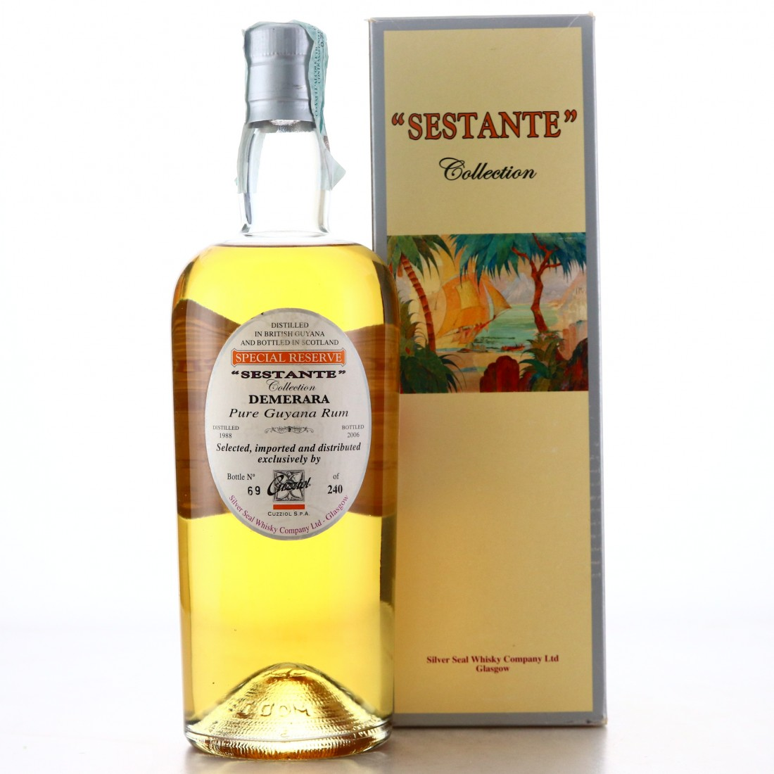 Silver Seal 18 Year Old Demerara Pure Guyana Single Rum / Sestante Collection