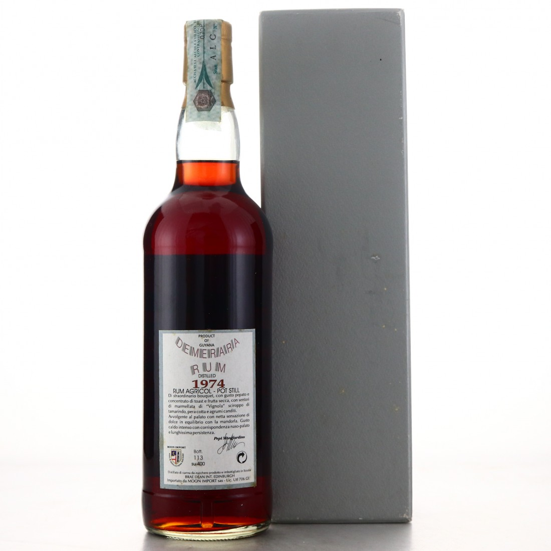 Port Mourant 1974 Moon Import Sherry Wood