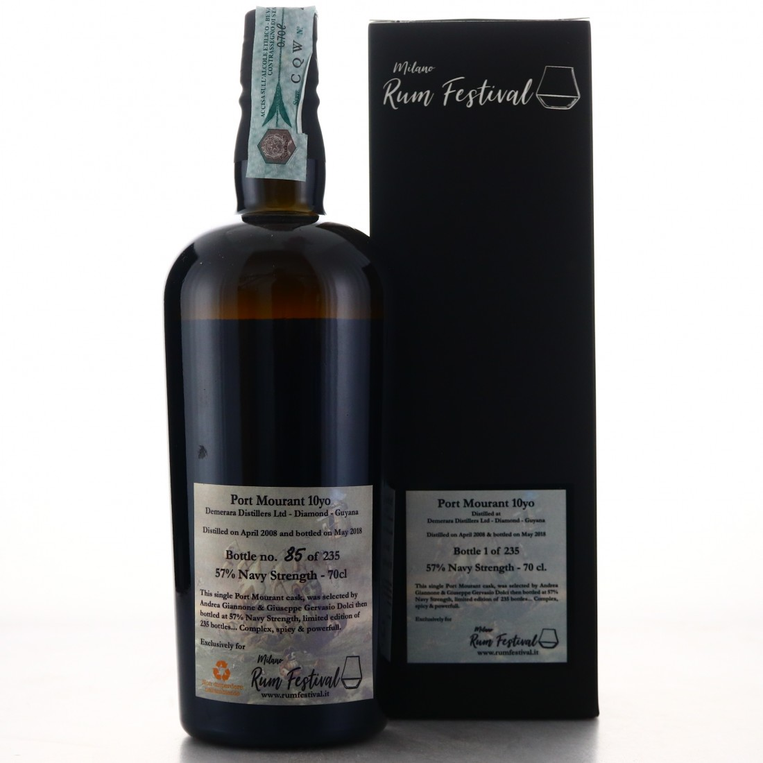 Port Mourant 2008 Milan Rum Festival 10 Year Old
