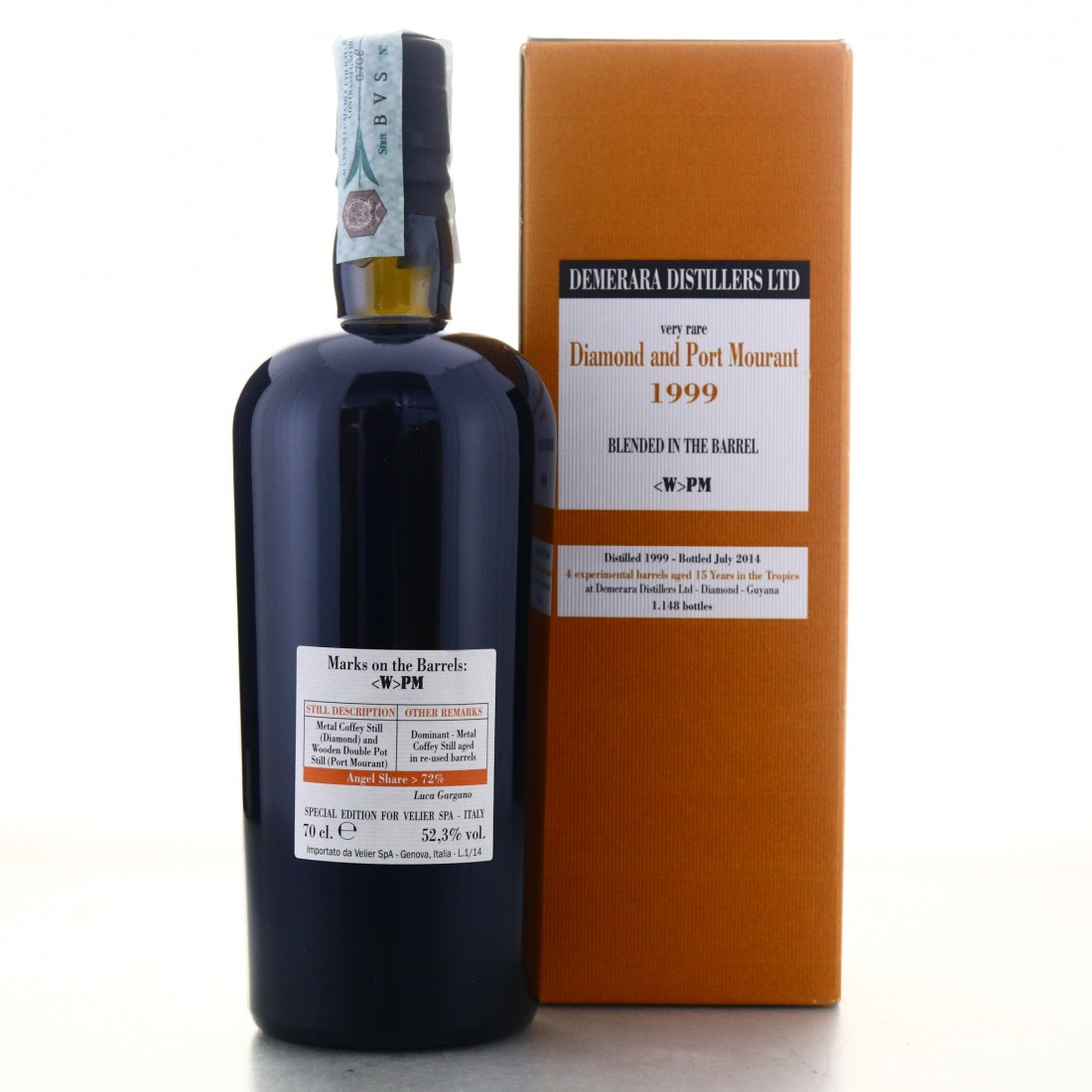Diamond and Port Mourant <W>PM 1999 Velier 15 Year Old Blended in the Barrel