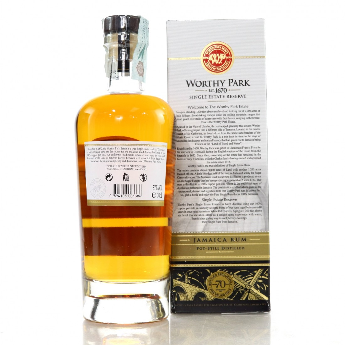 Worthy Park Single Estate Reserve Cask Strength / Velier 70th Anniversary