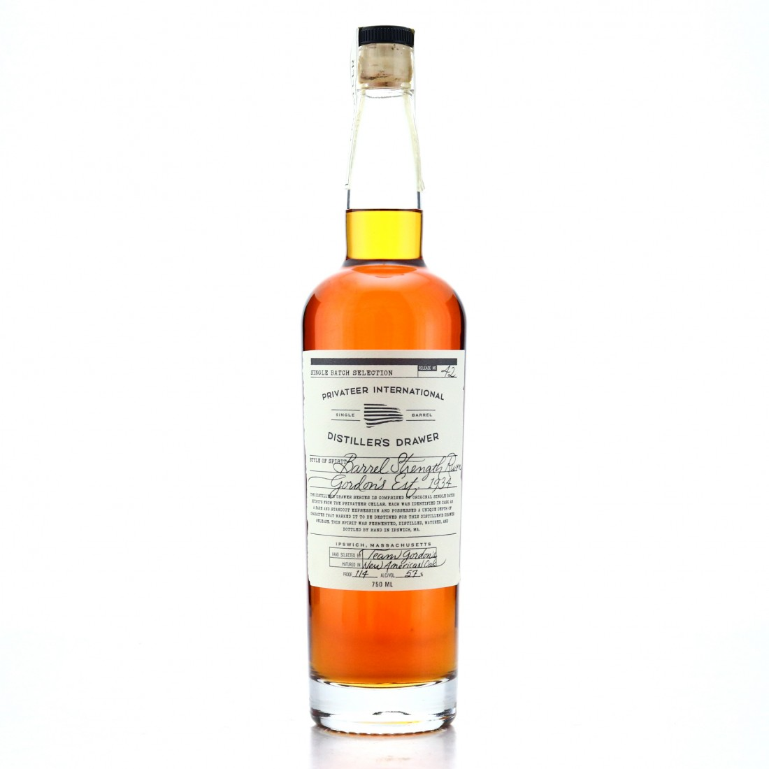 Privateer Distiller's Drawer #42 Barrel Strength / Gordon's