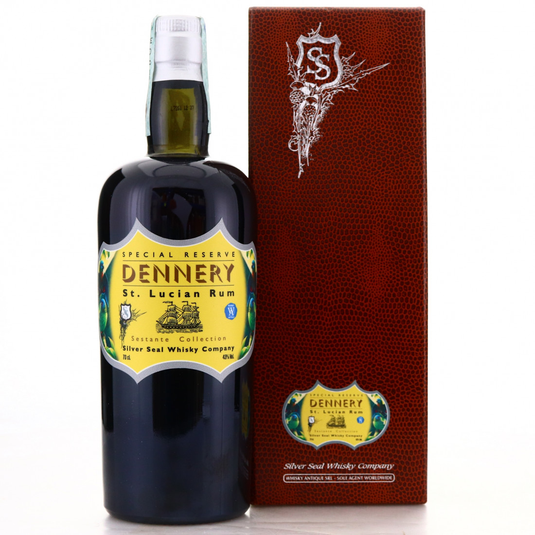 Silver Seal Dennery St Lucian Rum / Sestante Collection