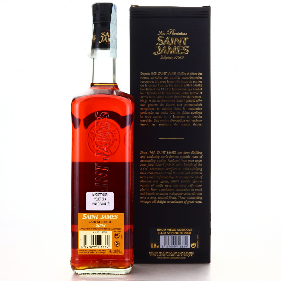 Saint James 2008 Cask Strength / Velier 70th Anniversary