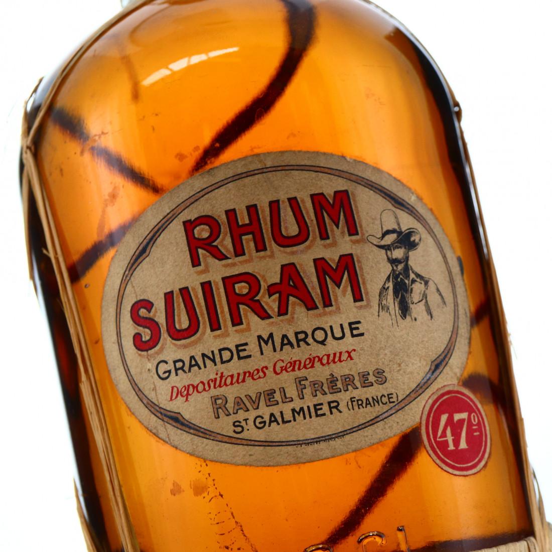 Rhum Suiram Grande Marque 1 Litre circa 1940s-50s