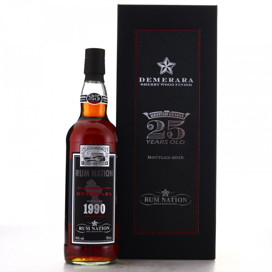 Demerara Rum 1990 Rum Nation 25 Year Old Sherry Wood Finish