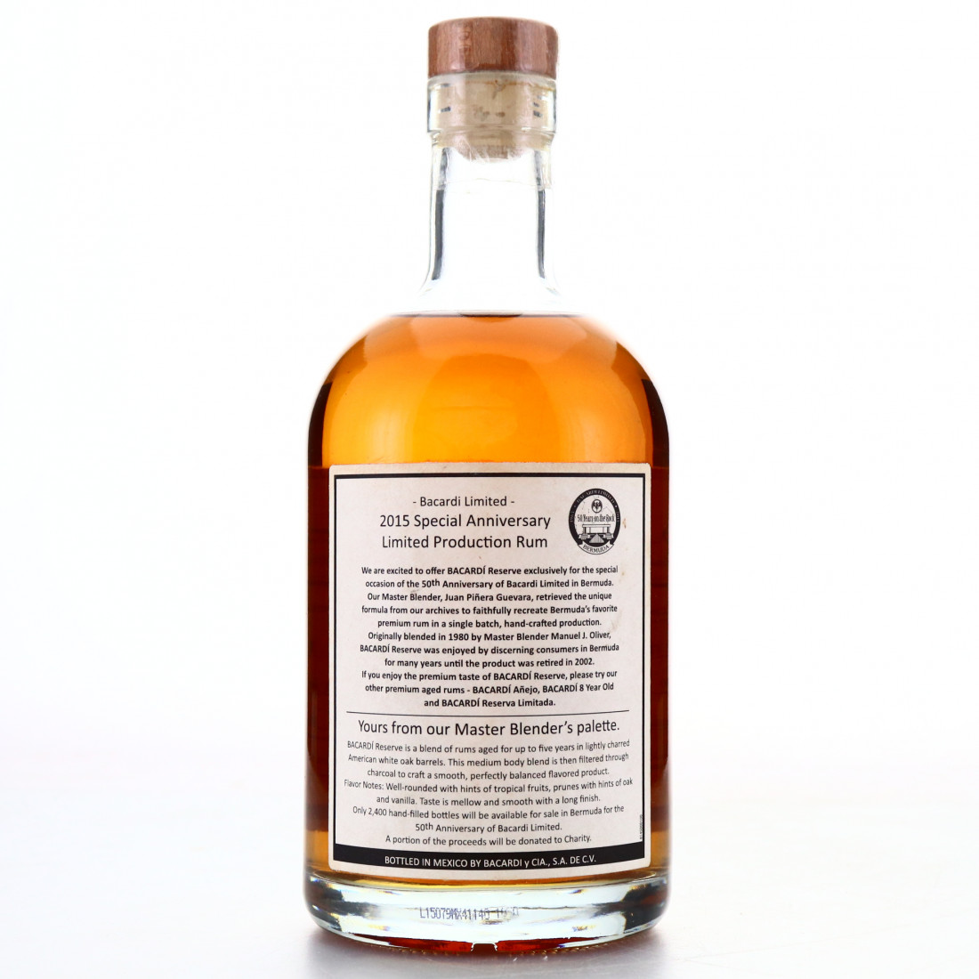 Bacardi Reserve 2015 Special Anniversary