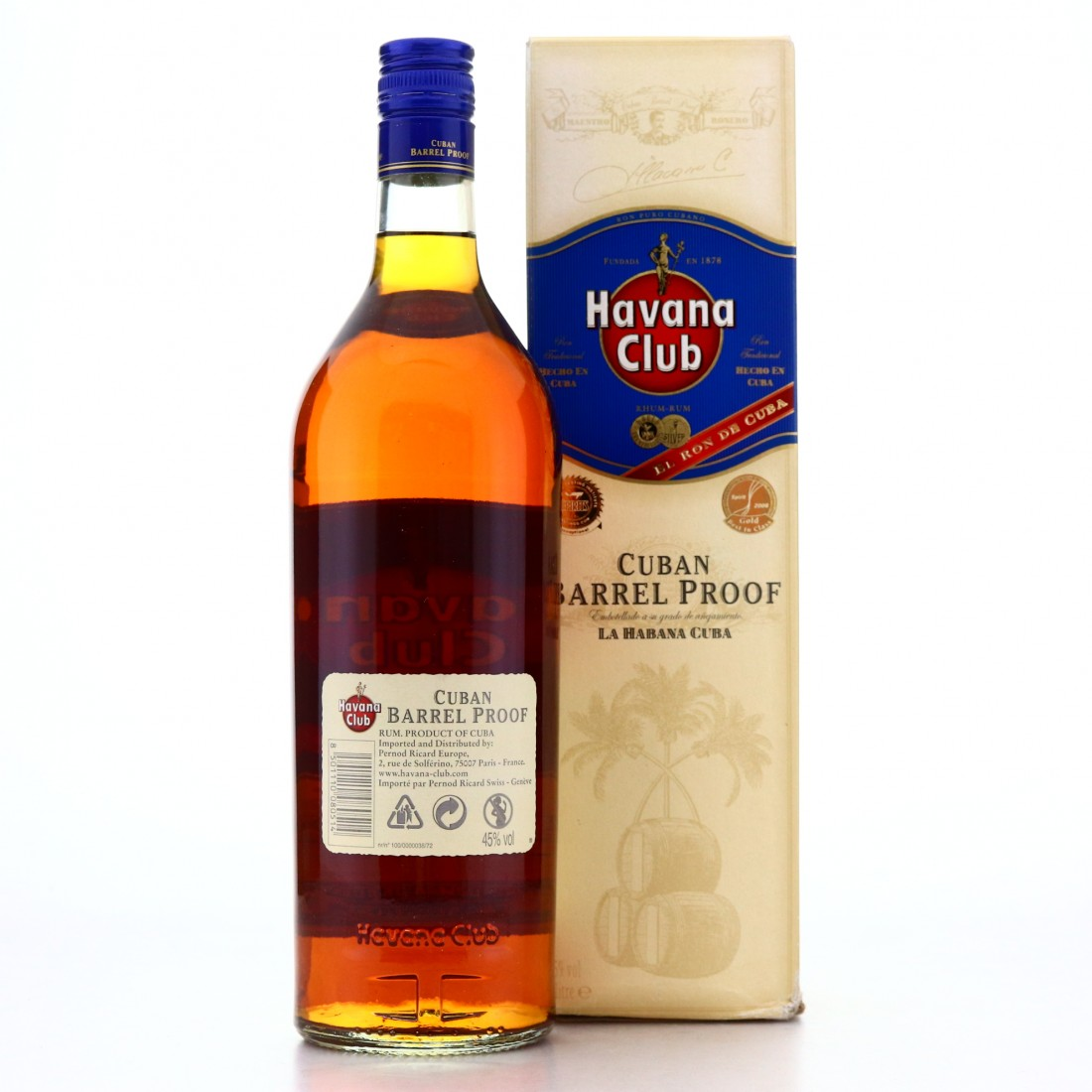 Havana Club Cuban Barrel Proof 1 Litre