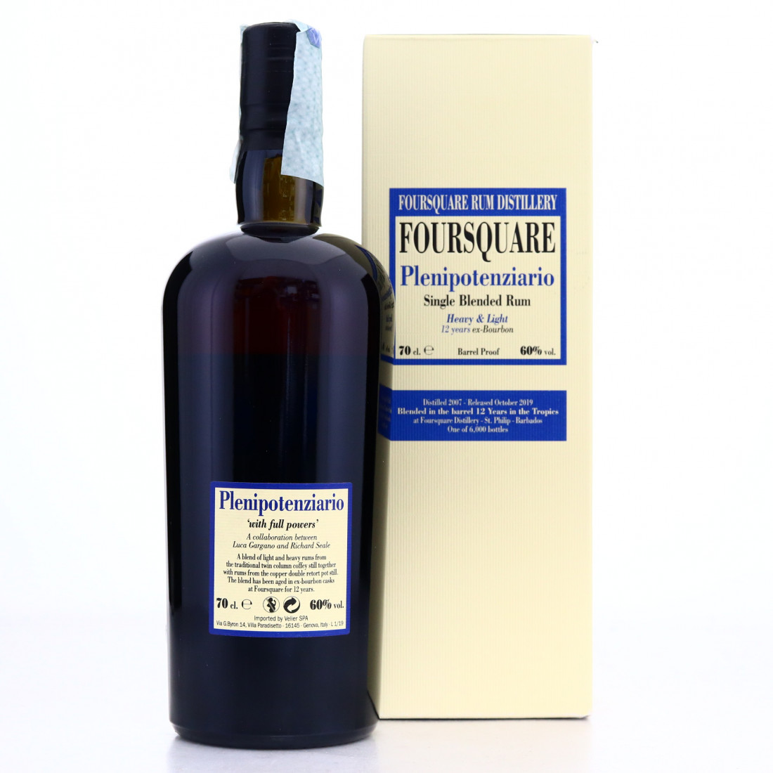 Foursquare 2007 Velier 12 Year Old Plenipotenziario