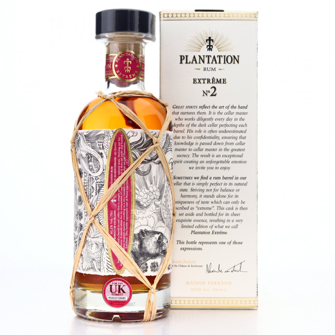 South Pacific 2001 Plantation 16 Year Old Extreme No.2